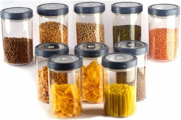 Flipkart SmartBuy Plastic Smart Lock Airtight Food Storage Container Set For Kitchen Jar And Container With Lid  - 1400 ml Plastic Grocery Container