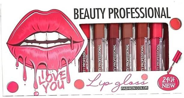 SKINPLUS Super stay matte ink bold lip color liquid lipstick combo pack of 12