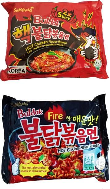 Samyang 2x Spicy & Stir Fried Hot Chicken Flavour Ramen Instant Korean Noodles Instant Noodles Non-vegetarian