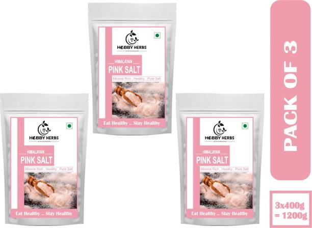 Hobby Herbs Himalayan Pink Salt (Sendha Namak) for Healthy Cooking & Eating, 1200g Himalayan Pink Salt