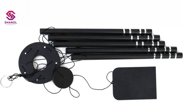 shanol :) Shanol :) Black pipe Wind Chimes for home decoration. Feng Shui item. Good sound Windchime (24 inch, Black) for bedroom, balcony, garden, office and kitchen decor, vastu item for good luck and prosperity & also for home decoration... :) Pack of 1 Steel, Wood Windchime