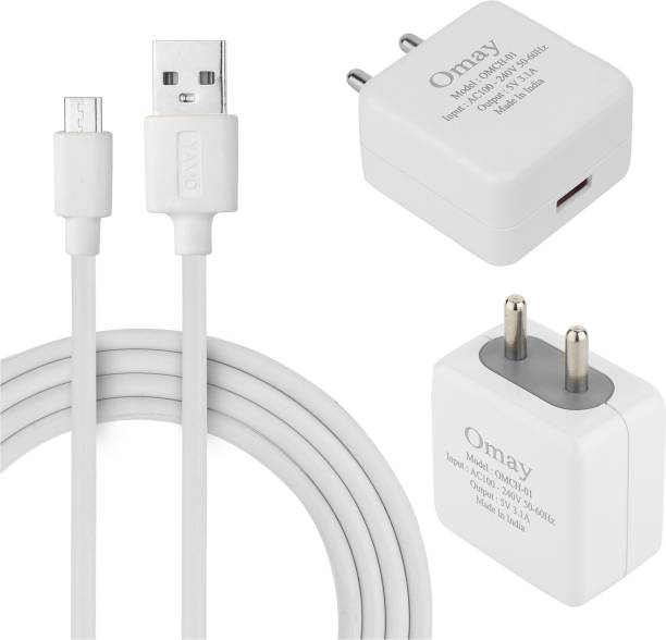 Omay OMSP 3.1A 5 W 3.1 A Mobile Charger with Detachable Cable