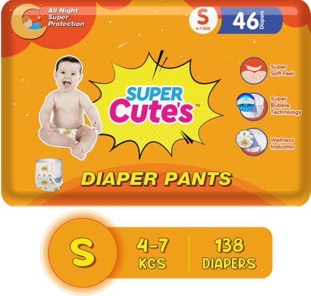 Super Cute's | Wonder Pullups | Pant Style Premium Diaper with wetness Indicator | For Superior Absorption - S