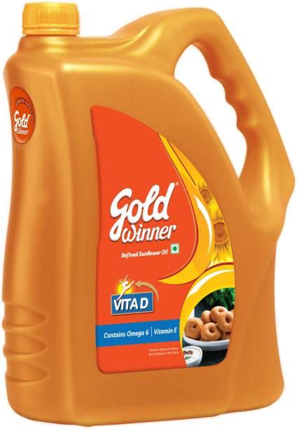 Gold Winner Refined Sunflower Oil Can