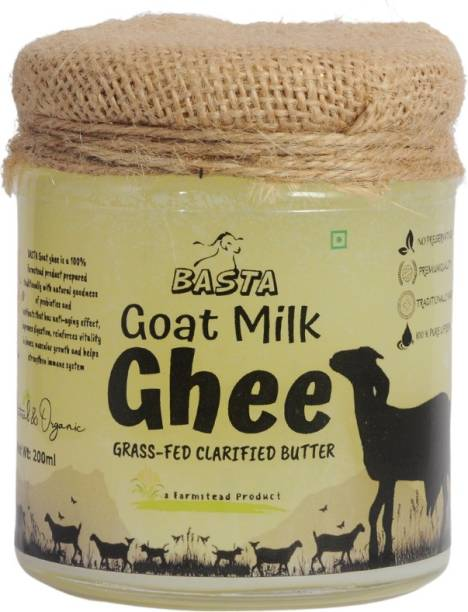 bastagoatmilk Ghee |Grass-Fed Clarified Ghee 200 g Glass Bottle