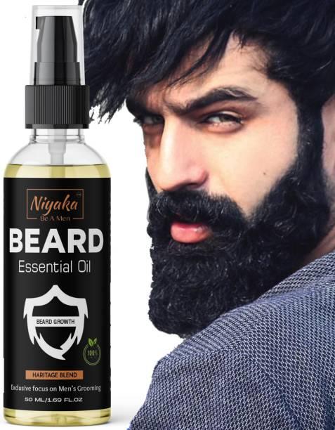NIYAKA Advanced Beard Growth Oil for Men - (Almond & Jojoba) for Beard Growth - hair oil Hair Oil