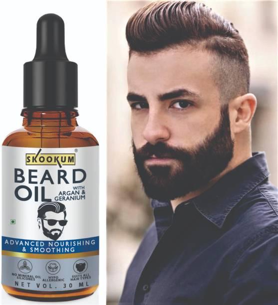SKOOKUM Advanced Beard Growth Oil For Men (SLS & Parabean Free)  Hair Oil