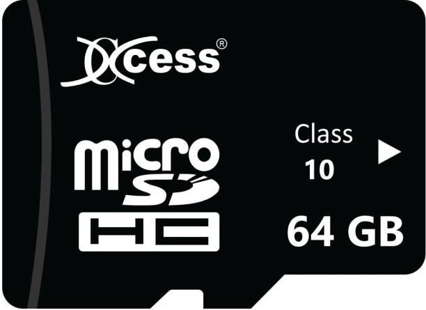XCCESS 64GB 64 GB MicroSD Card Class 10 80 MB/s  Memory Card