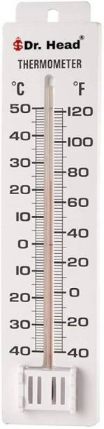 Dr. Head Wall Thermometer for Room Temperature Degrees Celsius Fahrenheit Meter Pinless Analog Moisture Measurer (150 mm) Wall Thermometer for Room Temperature Degrees Celsius Fahrenheit Meter Pinless Analog Moisture Measurer (150 mm) Pinless Analog Moisture Measurer