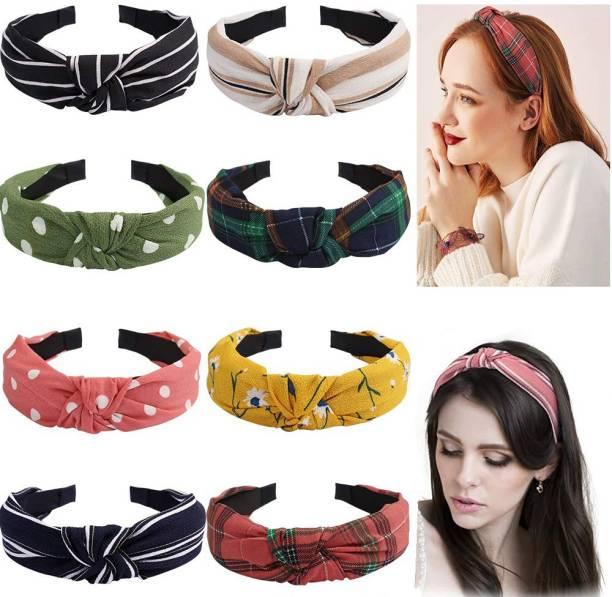 Shree Rangnath Bow Knot Headbands Random Color & print Rubber Band