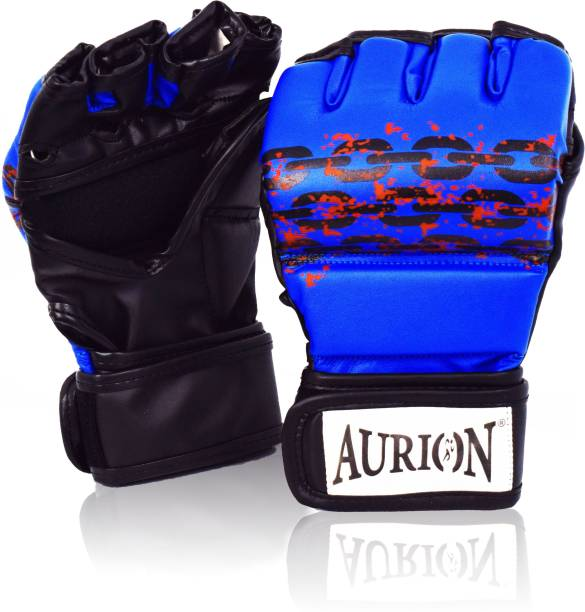 Aurion MMA Gloves for Grappling Martial Arts Training, Faux Leather Sparring Mitt Gloves Martial Art Gloves