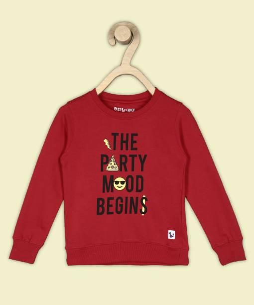 Miss & Chief Full Sleeve Printed Boys Sweatshirt