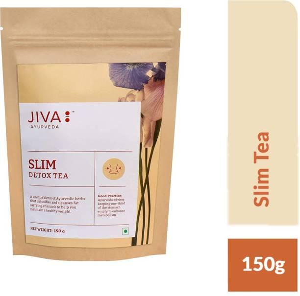 Jiva Slim Tea - Unflavoured Herbal Tea - Ayurvedic Tea for Natural Detox - 150 g - Pack of 1 Unflavoured Herbal Tea Tin