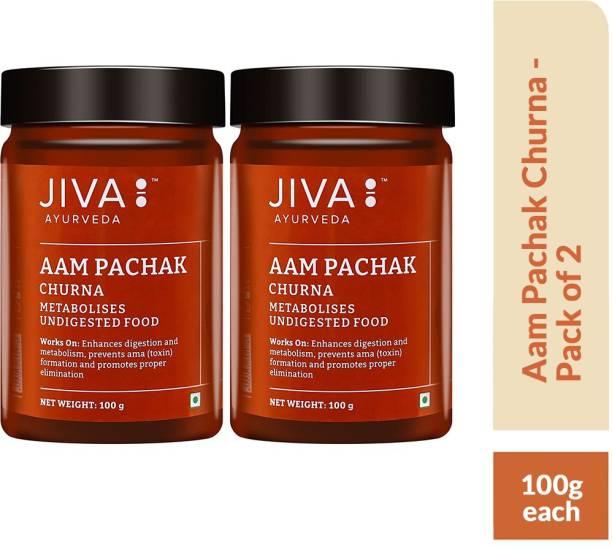 Jiva Aam Pachak Churna - Aids Healthy Digestion - Pack of 2