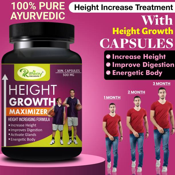 Natural Height Growth Maximizer Supplement For Proven To Work For All Age Groups Specially In Teenage Years 100% Organic