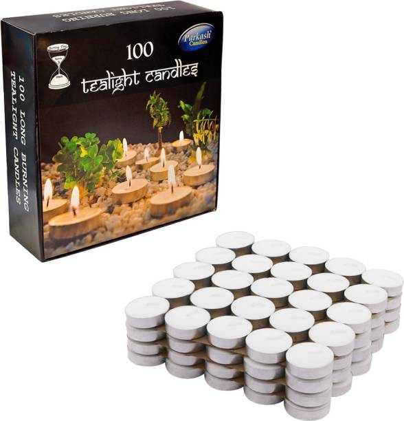 Parkash Candles Tealight Pack Of 100 Candle