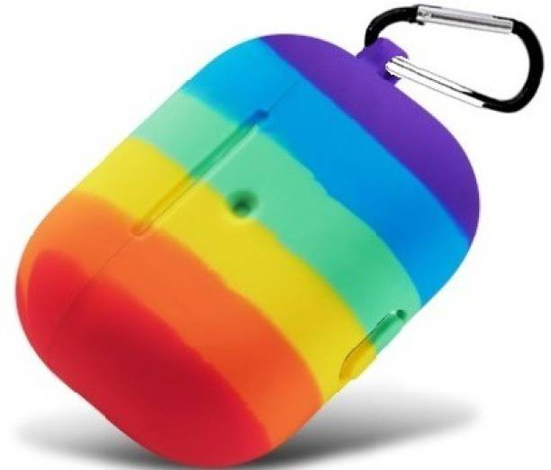 Evaton Pouch for Apple Airpods Pro |Shockproof, Dust Resistant Case| [NO BLUETOOTH, Only Cover]- Rainbow