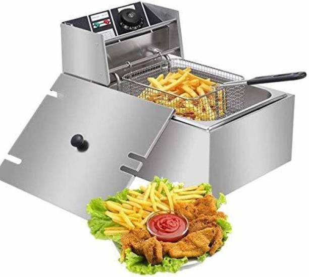 Nvs Stainless Steel Electric Deep Fryer (Silver) with Copper Element (6 Litre) 6 L Electric Deep Fryer