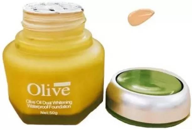 LJ LUJO Olive oil Dual Whitening Waterproof Foundation (02, 40 ml) Foundation