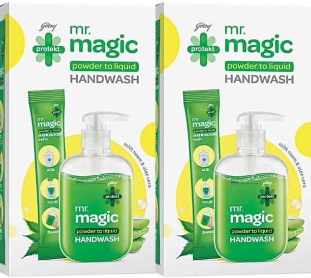 Godrej Protekt Mr. Magic Hand Wash Pump Hand Wash Refill + Dispenser
