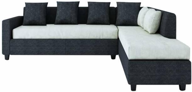FURNY Premion RHS L Shape Fabric 5 Seater  Sofa