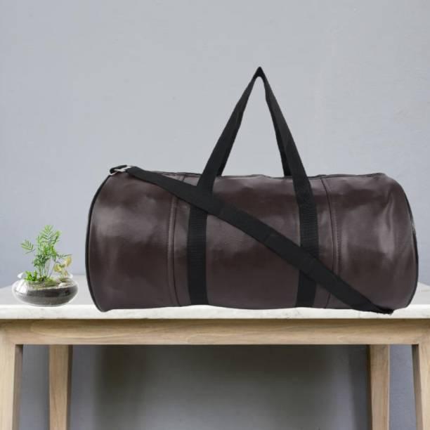 TRUE 2 F Brown Leather Gym Bag For Men Women