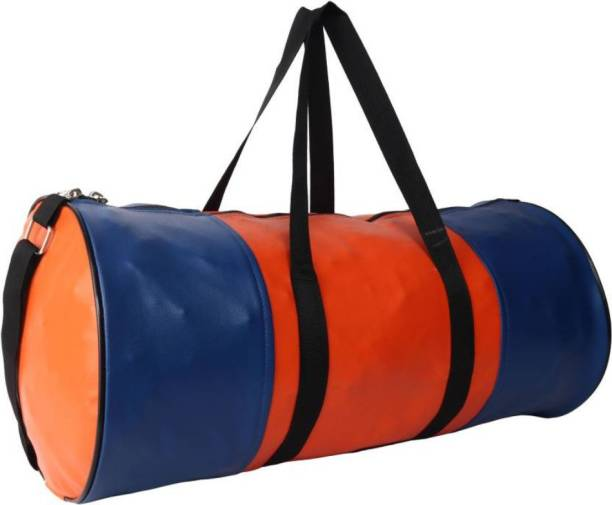 TRUE 2 F Blue, orange(multicolour) gymbag for boys and girls (ideal for men and women)