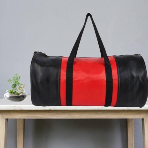 Classic Teardrop Black And Orange Gym Bag For Man Woman