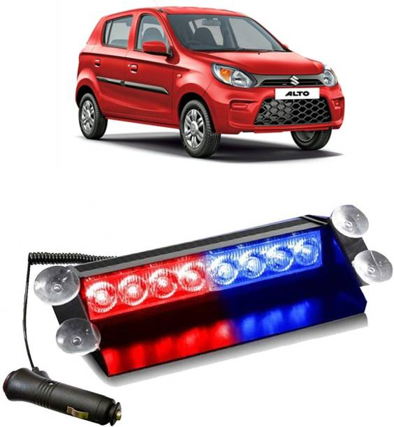 Ascension 8 LED Police Car Flashing Lights for - Maruti Suzuki Alto Interior Light Car LED for Maruti Suzuki (12 V, 35 W)