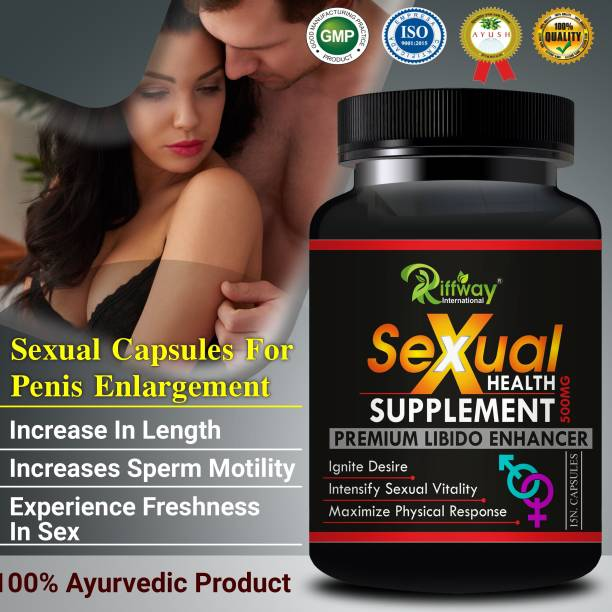Riffway Sexual Health Supplement Sexual capsules For Pure Natural and Ayurvedic Food food supplemen stamina booster Long time sexual for men medicine tablet/ sexual power Powder for men/ active power capsule/ sexual power tablets for men vigora/safed musli powder 100% Ayurvedic