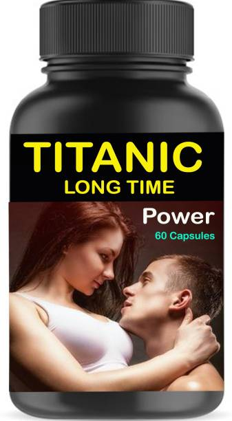 TITANIC LONG TIME Sexual power Shilajit Gold capsule for men stamina vigor vitality performance