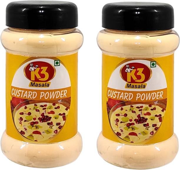 K3 Masala Custard Powder (100gm)(Pack of 2) Custard Powder