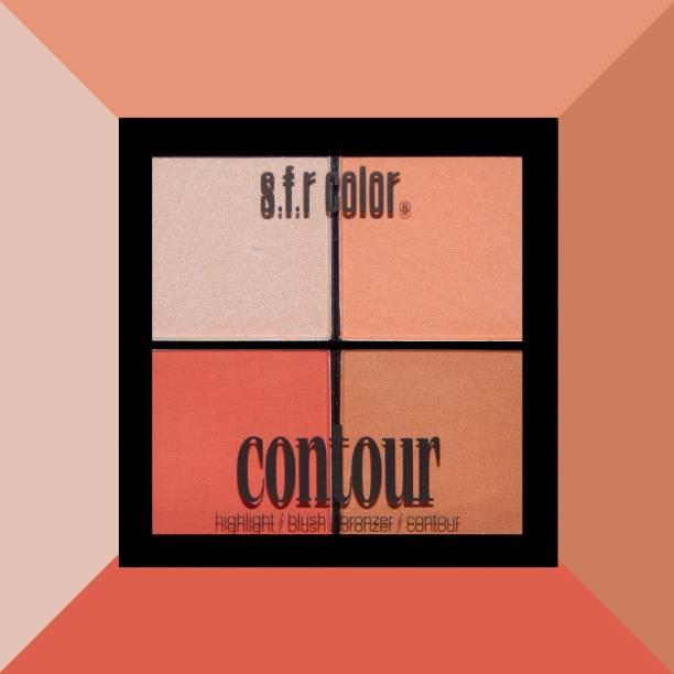 s.f.r color Highlighter, blusher, bronzer, contour combo palette | highlighter and bronzer palette | blusher and contour palette | face makeup highlighter , bronzer, blusher palette | All in one mini palette