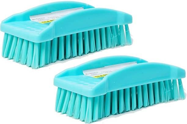 Target20 Tile Scrubber Brush for Bathroom Cleaning-Set for Home   Kitchen   Bathroom   Pack of 2 Fiber Wet and Dry Brush