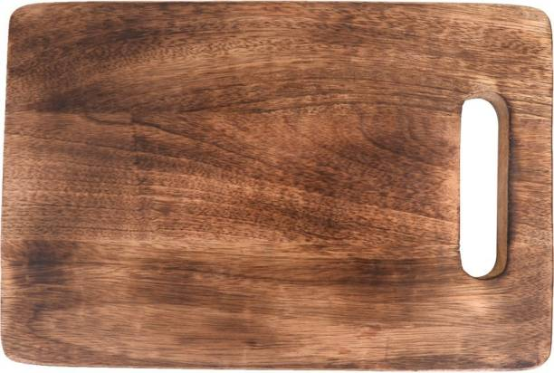 The Indus Valley Compact Mango Wood Chopping Board with Handle-(14 Inch Wide,2.5cm thick) Wooden Cutting Board