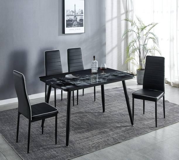 KRIJEN Metal 4 Seater Dining Set