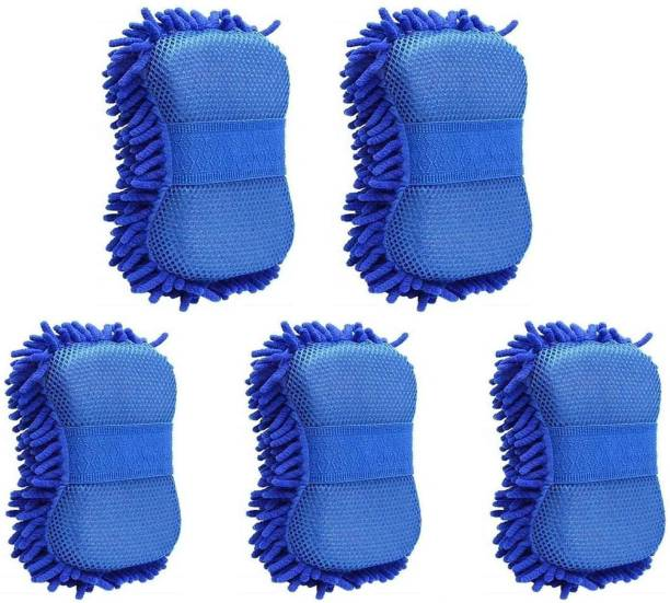HomeGini Multipurpose Microfiber Wet & Dry Cleaning Washing Sponge (5 Pieces) Wet and Dry Duster