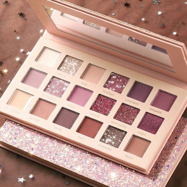 NYN HUDA Swiss Edition 18 Colors Glazed Matte & Shimmery Highly Pigmented Nude Beauty EyeShadow Palette Eye Shadow 18 g