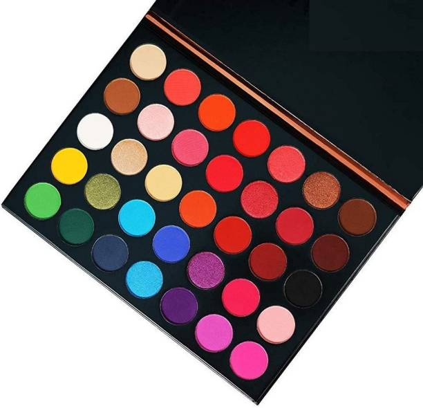NYN HUDA Color Icon 35 Colors Glazed Matte & Shimmery Highly Pigmented Color Studio Beauty EyeShadow Palette Eye Shadow 35 g