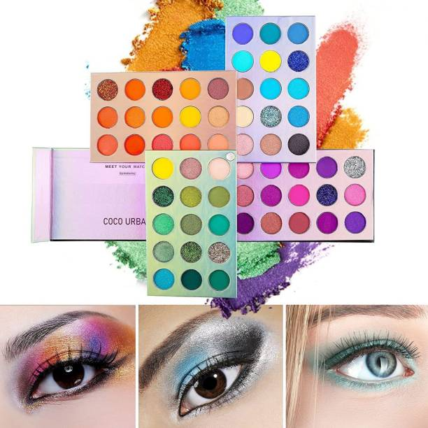 NYN HUDA Swiss Edition 60 Colors Glazed Matte & Shimmery Highly Pigmented Color Board Beauty EyeShadow Palette Eye Shadow 60 g