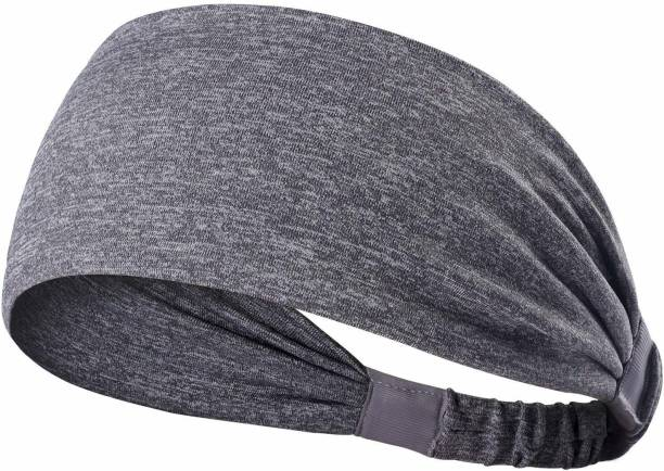 SKUDGEAR Yoga Sport Athletic Headband Elastic Wicking Non Slip Style Band (Cement) Head Band