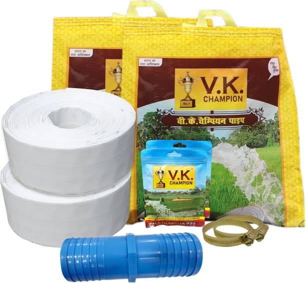 V K Champion (A+B = 60 Meter) - 3 Inch HDPE Lapeta Pipe Hose Pipe