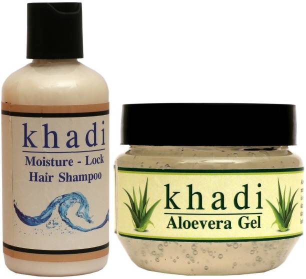 AMRIT Herbals Amrit Herbal Aloevera Gel + Hair Shampoo combo Kit