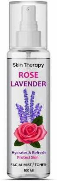 Manarya Heart Skin Therapy Rose Lavender Makeup-fixer mist spray on formula  Primer  - 100 ml