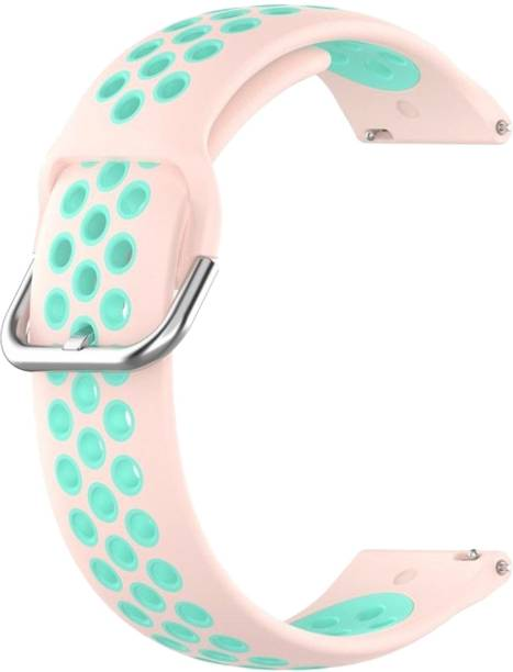 ACM WSM12C20PKBL1904 Watch Strap Silicone Belt 20mm for Motorola Moto 360 (3rd Gen) ( Smartwatch Breatheable Dual Color Dot Band Pink with Blue) Smart Watch Strap