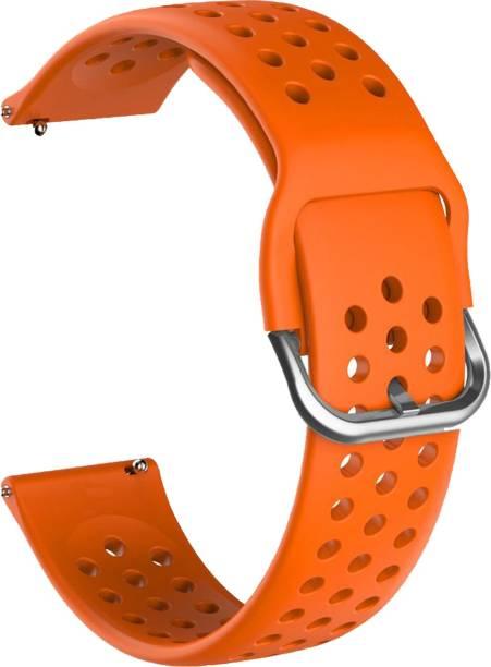 ACM WSM11B20OR1904 Watch Strap Silicone Belt 20mm for Motorola Moto 360 (3rd Gen) ( Smartwatch Breatheable Dot Band Orange) Smart Watch Strap