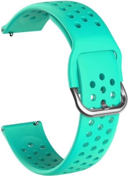 ACM WSM11B20TU1904 Watch Strap Silicone Belt 20mm for Motorola Moto 360 (3rd Gen) ( Smartwatch Breatheable Dot Band Turquoise) Smart Watch Strap