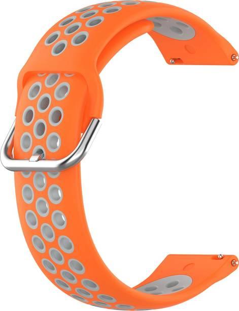ACM WSM12C20ORW1904 Watch Strap Silicone Belt 20mm for Motorola Moto 360 (3rd Gen) ( Smartwatch Breatheable Dual Color Dot Band Orange with White) Smart Watch Strap