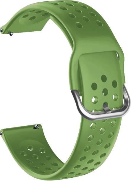 ACM WSM11B20GR1904 Watch Strap Silicone Belt 20mm for Motorola Moto 360 (3rd Gen) ( Smartwatch Breatheable Dot Band Green) Smart Watch Strap