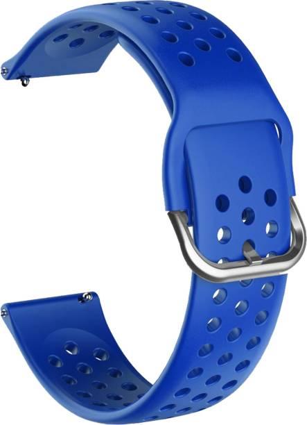 ACM WSM11B20NBL1904 Watch Strap Silicone Belt 20mm for Motorola Moto 360 (3rd Gen) ( Smartwatch Breatheable Dot Band Navy Blue) Smart Watch Strap